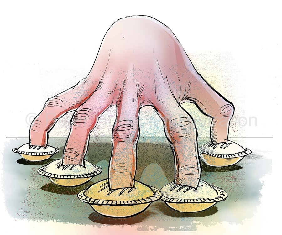 Image result for finger in pie idiom